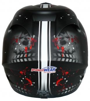 Sturmhaube protectWEAR Motorradhelm Integralhelm FS-801-SL