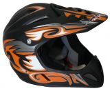 Freeride- Downhill- Dirt- BMX-Helm schwarz orange matt FR-OR