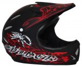 Freeride- Downhill- BMX- Dirt Helm schwarz rot DH-Spider